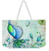 Original Peacock Painting Bird Art By Megan Duncanson Weekender Tote Bag