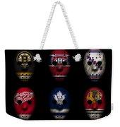 Original Six Jersey Mask Weekender Tote Bag