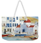 Watercolor - Mykonos Greece Detail Weekender Tote Bag