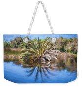 Ormond Scenic Loop Florida Palm Tree Painted  Weekender Tote Bag