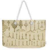 Ornamental Knobs Shaped As Domes Weekender Tote Bag
