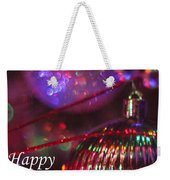 Ornaments-2054-happyholidays Weekender Tote Bag