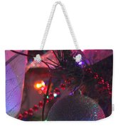 Ornaments-2136-happyholidays Weekender Tote Bag