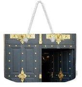 Ornate Door On Champs Elysees In Paris France Weekender Tote Bag