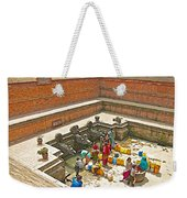 Ornate Fountains With Holy Water From The Bagmati River In Patan Durbar Square In Lalitpur-nepal   Weekender Tote Bag