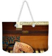Ornate Mask On Piano Keys Weekender Tote Bag