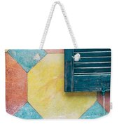 Ornate Wall With Shutter Weekender Tote Bag