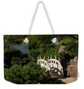Ornate White Stone Bridge  Weekender Tote Bag