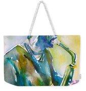 Ornette Coleman - Watercolor Portrait Weekender Tote Bag