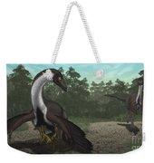 Ornithomimus Mother Dinosaur Weekender Tote Bag by Vitor Silva