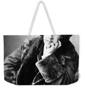 Oscar Wilde In His Favourite Coat 1882 Weekender Tote Bag