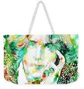 Oscar Wilde Watercolor Portrait.2 Weekender Tote Bag by Fabrizio Cassetta