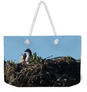 Osprey Chicks In Nest Weekender Tote Bag