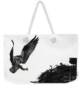 Osprey With Sushi Weekender Tote Bag