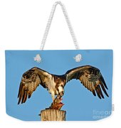 Osprey With Spotted Bass Weekender Tote Bag