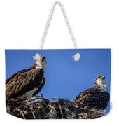 Ospreys In The Nest Weekender Tote Bag