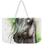 Ostragon Polish Arabian Horse Painting   Weekender Tote Bag