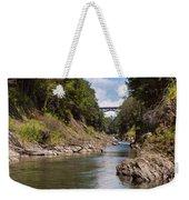 Ottauquechee River Flowing Through The Quechee Gorge Weekender Tote Bag