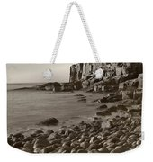 Otter Cliffs Black And White Weekender Tote Bag