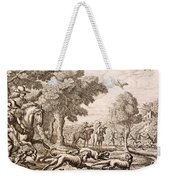 Otter Hunting By A River, Engraved Weekender Tote Bag