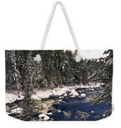 Ouareau River And Snow Covered Weekender Tote Bag