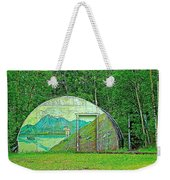 Our Lady Of The Way Quonset Hut Chapel In Haines Junction-yt Weekender Tote Bag