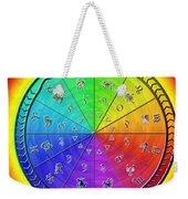 Ouroboros Alchemical Zodiac Weekender Tote Bag by Derek Gedney