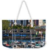 Out At The Harbor V3 Weekender Tote Bag
