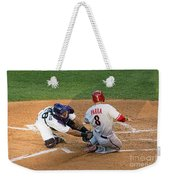 Out At The Plate Weekender Tote Bag