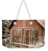 Out By The Woodshed Weekender Tote Bag by Edward Fielding