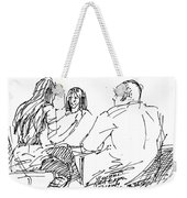 Out For A Coffee Weekender Tote Bag