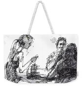 Out For A Tea Weekender Tote Bag