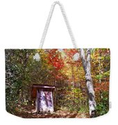 Out House In The Fall Weekender Tote Bag
