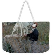Out Of Africa  Friendly Wolves Weekender Tote Bag