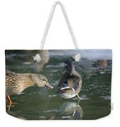 Out Of My Roosting Ice Spot Shorty Weekender Tote Bag