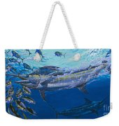 Out Of The Blue Off009 Weekender Tote Bag by Carey Chen