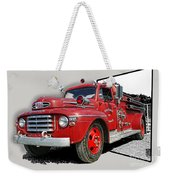 Out Of The Photo Fire Truck Weekender Tote Bag