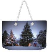 Outdoor Christmas Tree Weekender Tote Bag