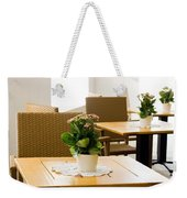 Outdoor Dining Tables Weekender Tote Bag by Pati Photography