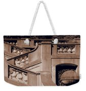 Outdoor Estate Stairway In Sepia Weekender Tote Bag