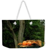 Outdoor Fall Halloween Decorations Weekender Tote Bag