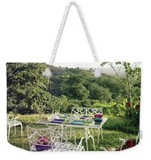 Outdoor Furniture By Lloyd On Grassy Hillside Weekender Tote Bag