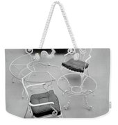 Outdoor Furniture Made Out Of Cast Aluminum Weekender Tote Bag