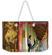 Outer Hall In Thai-khmer Pagoda At Grand Palace Of Thailand Weekender Tote Bag