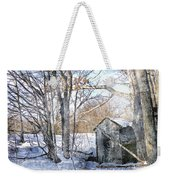Outhouse In Winter Weekender Tote Bag