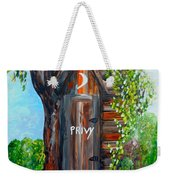 Outhouse - Privy - The Old Out House Weekender Tote Bag