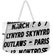 Winterland Marquee 3-6-76 Weekender Tote Bag