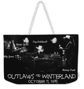 Outlaws With Toy Caldwell 1975 Weekender Tote Bag