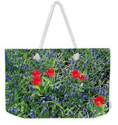 Outnumbered And Surrounded Weekender Tote Bag