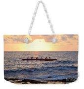 Outrigger Canoe At Sunset In Kailua Kona Weekender Tote Bag